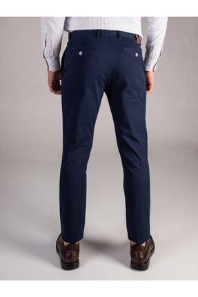 Dufy Lacivert Düz Sık Dokuma Erkek Pantolon - Slım Fıt 2
