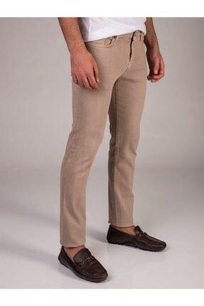 Dufy Bej Düz Likralı 5cep Erkek Pantolon - Regular Fit 0