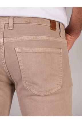 Dufy Bej Düz Likralı 5cep Erkek Pantolon - Regular Fit 3