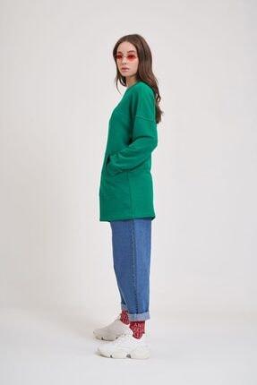 Mizalle Youth Dna Baskılı Sweatshirt (Yeşil) 3