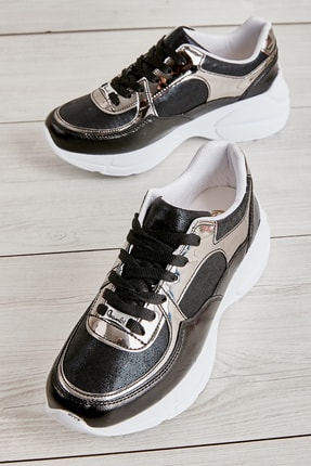 Bambi Siyah/siy.çup Kadın Sneaker L0603556109 0