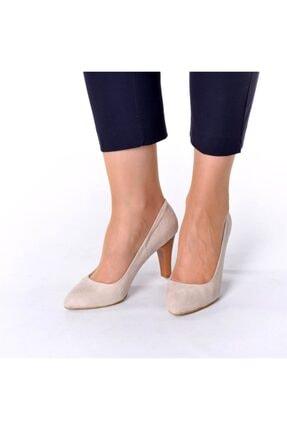 İriadam 1923 Bej Suet Topuklu Büyük Numara Kadın Ayakkabıları 1