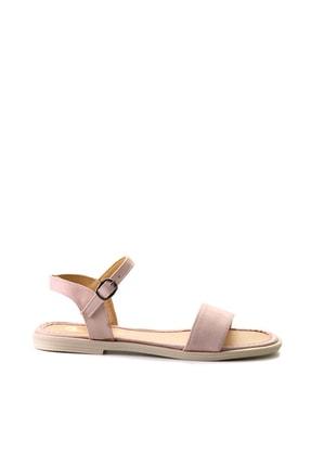 Bambi Pudra Süet Kadın Sandalet L0652071265 1