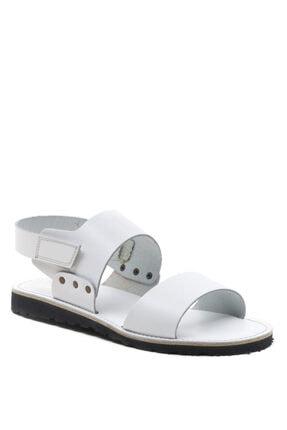 Bulldozer 201772 Beyaz Erkek Deri Sandalet 1