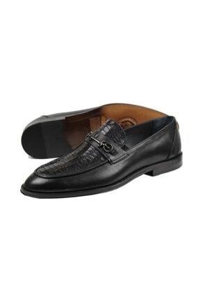 ARİNO Kösele Klasik Ayakkabı Siyah Antik / Corocco 1