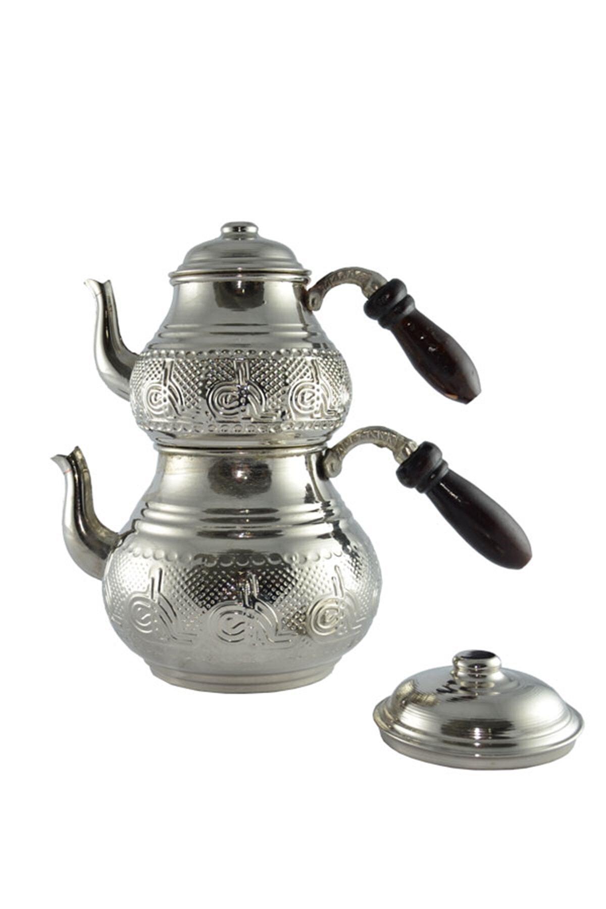 Zugazo Tuğra Kabartma Bakır Çaydanlık