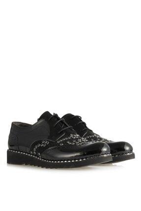 41 Numara Bayan Ayakkabısı Siyah Oxford 12048SYT