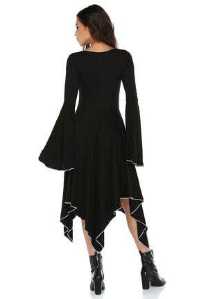 Quincey Ispanyol Kol Asimetrik Elbise 1
