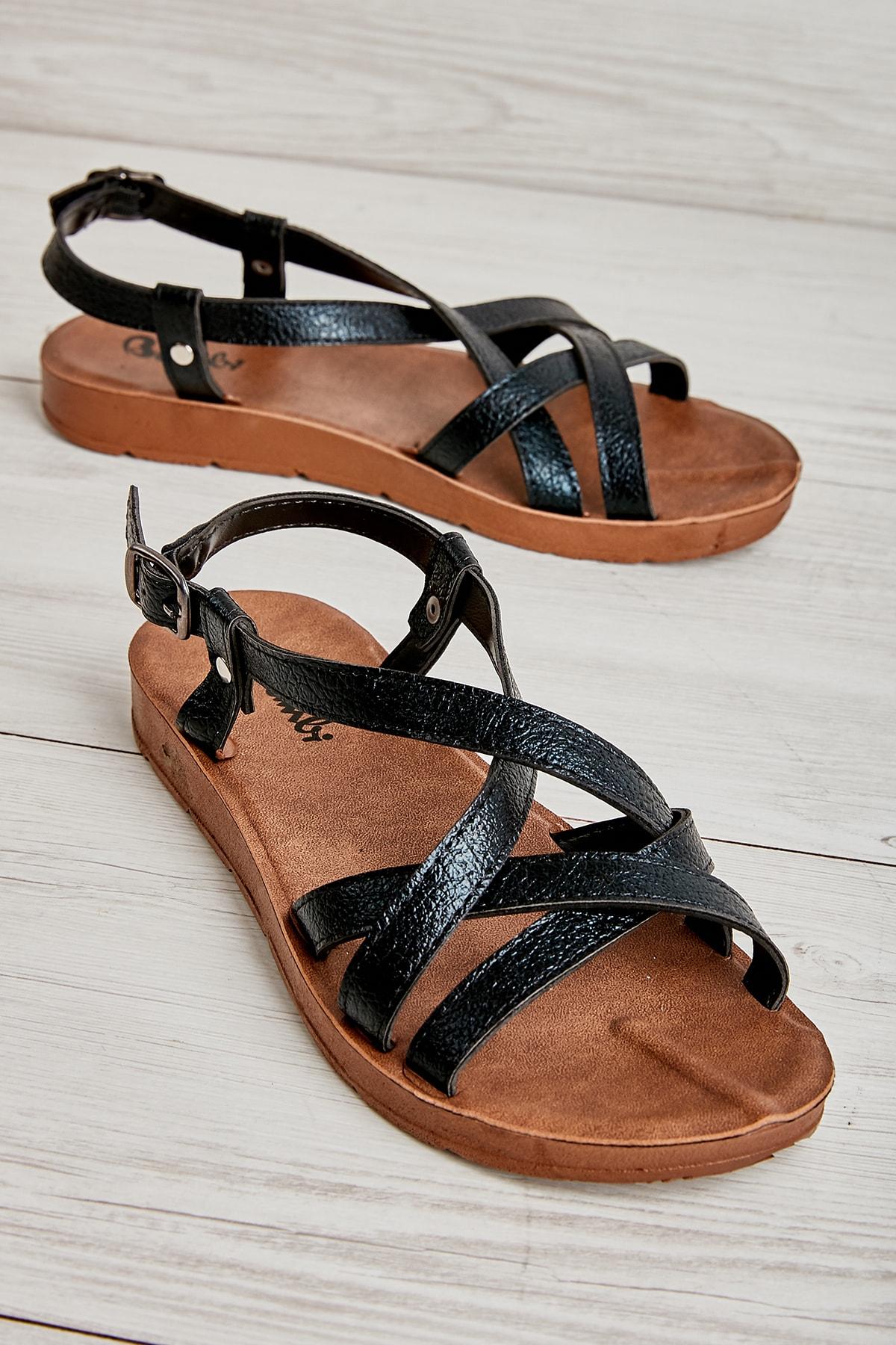 Bambi Sıyah Kadın Sandalet L0642830010