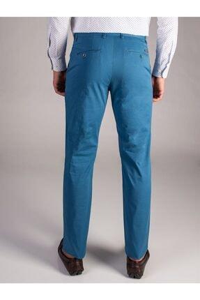 Dufy Açık Petrol Düz Sık Dokuma Erkek Pantolon - Regular Fıt 1
