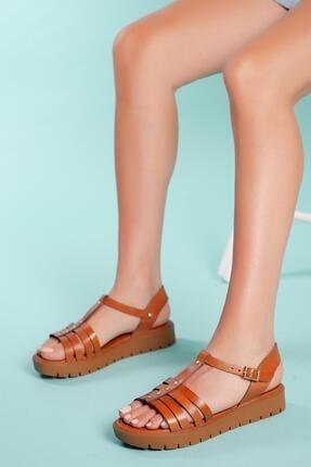 Muggo Sndt04 Hakiki Deri Sandalet 1