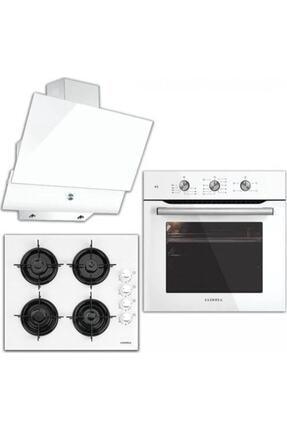 Luxell A6-sf2mt+lx 40ta-hdf+da6-830 Kristal Serisi Beyaz Cam Ankastre Set 0
