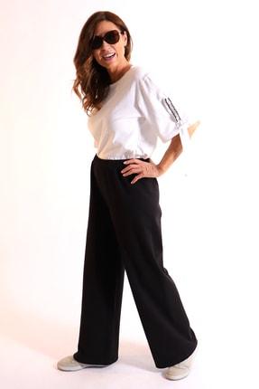 Picture of Annie Büyük Beden Kalın Penye Pantolon