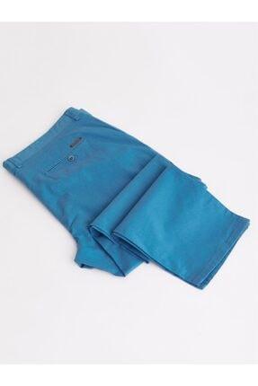 Dufy Açık Petrol Büyük Beden Düz Sık Dokuma Erkek Pantolon - Battal 0