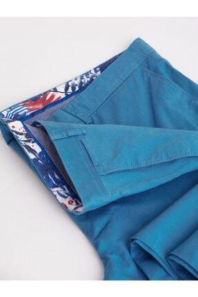 Dufy Açık Petrol Büyük Beden Düz Sık Dokuma Erkek Pantolon - Battal 1