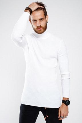 Lafaba Erkek Beyaz Boğazlı Triko 1