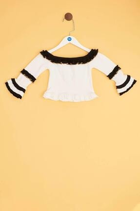 Tyess Kız Çocuk Ekru Bluz 0
