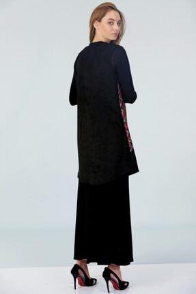 Güzey Yelek Elbise Ikili Takım - Siyah 4
