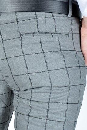Terapi Men Erkek Ekoseli Slim Fit Keten Pantolon 20y-2200275 Antrasit 4