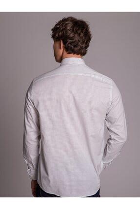 Dufy Krem Desenli Pamuklu Erkek Gömlek - Regular Fit 3