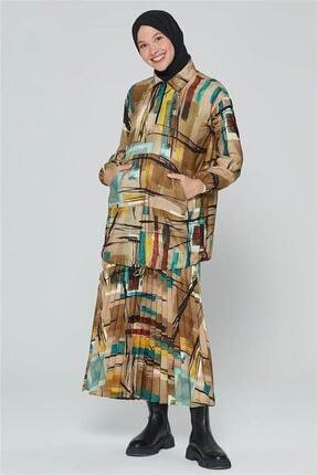 Armine Kadın Yeşili Yağ Bluz 20k3908 0