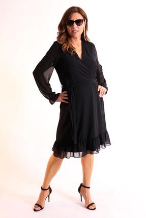Picture of Edina Anvelop Büyük Beden Elbise