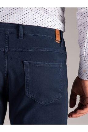 Dufy Lacivert Melanj Erkek Pantolon - Slım Fıt 3