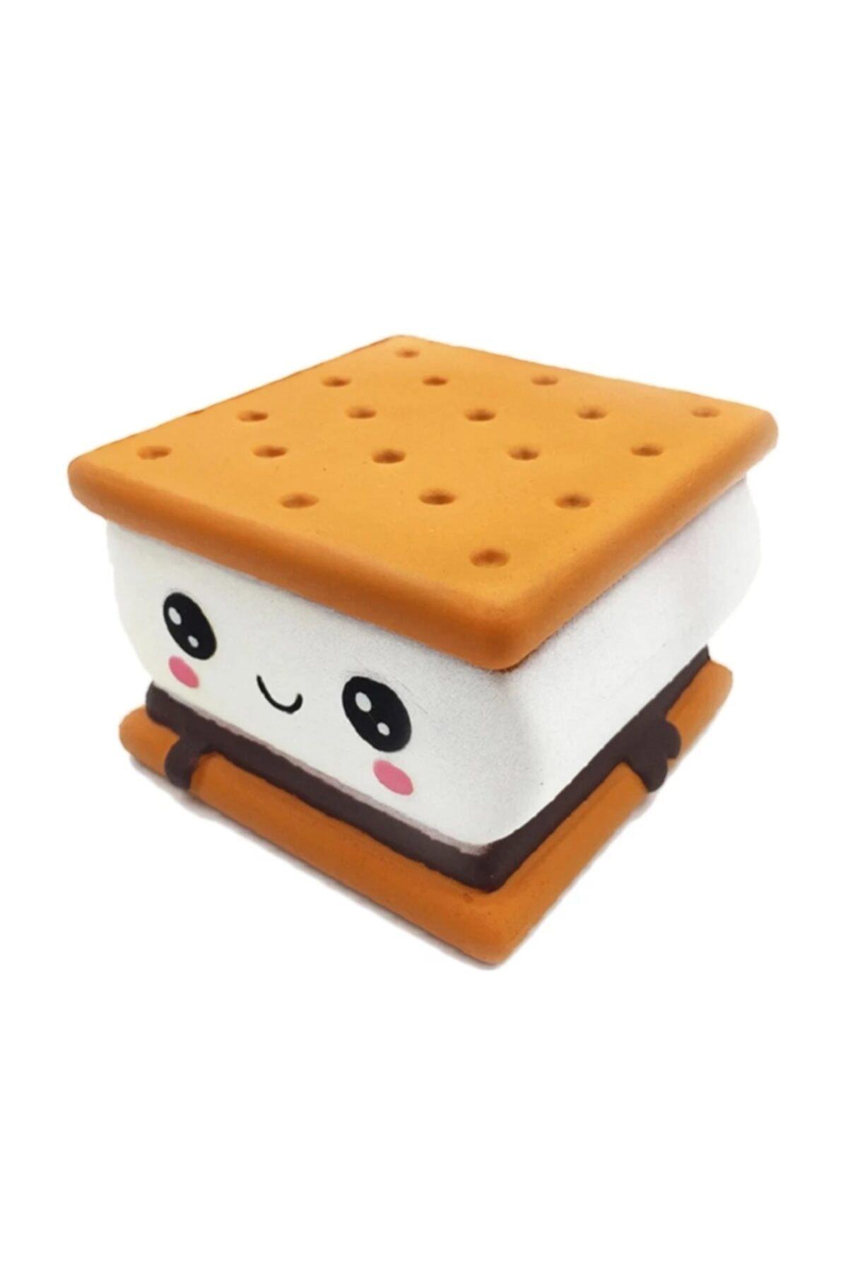 Bisküvi Arası Lokum Marshmallow Squishy Oyuncak Sukuşi