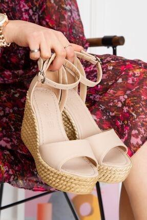 derithy Kadın Ten Vinle Dolgu Topuklu Ayakkabı -ten-lzt0590 3