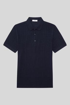 Halifaks Erkek Lacivert Polo Yaka T-shirt 0