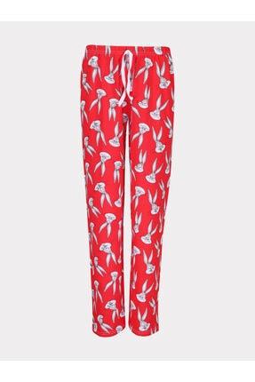 Madame Moss Kadın Kırmızı Bugs Bunny Baskılı Eşofman Altı-001 2