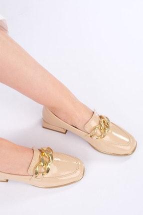 Marjin Kadın Bej Rugan Loafer Ayakkabı Annar 3