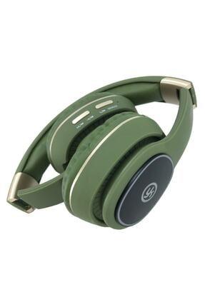 YK Design Rgb Led Işıklı Bluetooth Stereo Kablosuz Kulaklık Yeşil + Sd Kart 2
