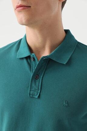 D'S Damat Erkek Yeşil Regular Fit Pike Dokulu T-shirt 2