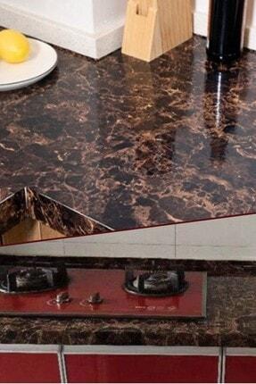 Chermik Mutfak Tezgah Üstü Folyo Kaplama Mermer Desenli Pratik Kullanım Kaplama Kahverengi 1420 1