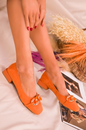 Soho Exclusive Turuncu Süet Kadın Casual Ayakkabı 16160 2