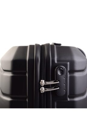 GROUND Unisex Siyah Sert Plastik Orta Boy Valiz 4