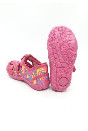 PaPuş Kız Bebek Fuşya Ortopedik Ev Ayakkabısı 2