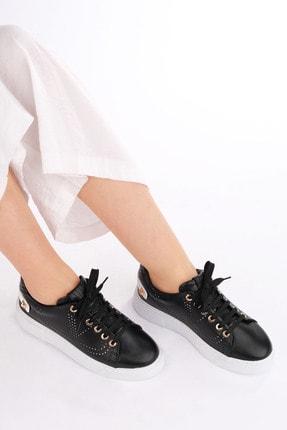 Marjin Kadın Siyah Sneaker Spor Ayakkabı Volares 1