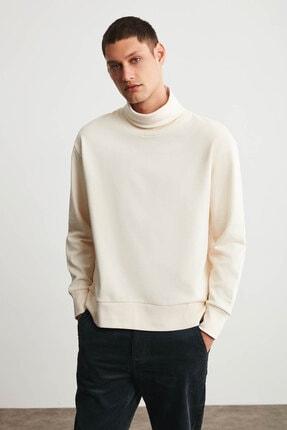 تصویر از Addıs Erkek Ekru Tam Boğazlı Comfort Sweatshirt