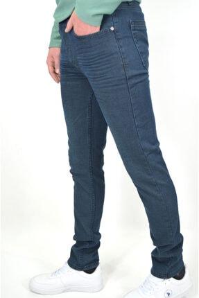 ds danlıspor Erkek Tint Yeşili Likralı Hafif Çizgili Hafif Taşlamalı Denimstar Kot Pantolon 1