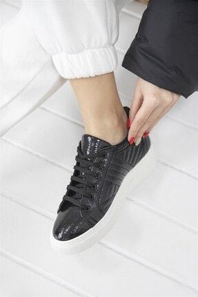 Straswans - Kadın  Siyah Rugan Spor Ayakkabı 3