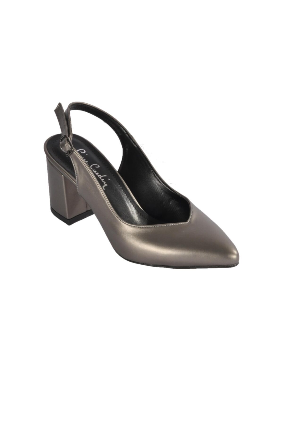 Kadın Platin  Topuklu Ayakkabı Pc-50173