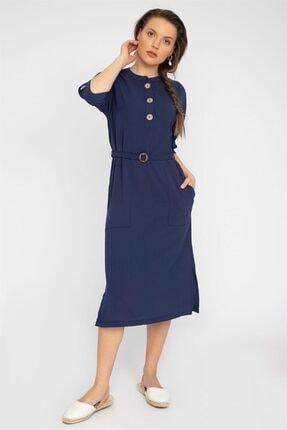 Sıfır Yaka Elbise Y19EL112