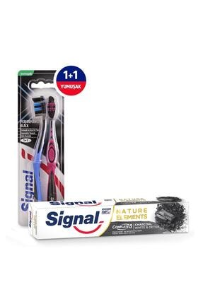 Signal Sıgnal Performans Black 1+1 Diş Fırçası + Sıgnal Nature E Charcoal Tp 75 ml Diş Macunu 3