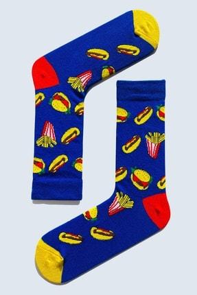 CARNAVAL SOCKS 7'li Fast Food Yemek Yiyecek Desenli Çorap Set 1014 1