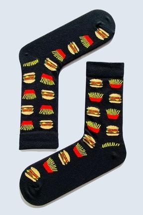 CARNAVAL SOCKS 7'li Fast Food Yemek Yiyecek Desenli Çorap Set 1014 3