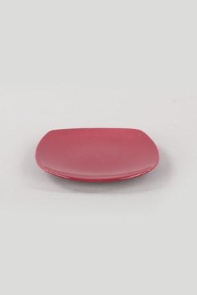 Keramika Carmen Kırmızı Köşem Pasta Tabağı 22 Cm 6 Adet 2
