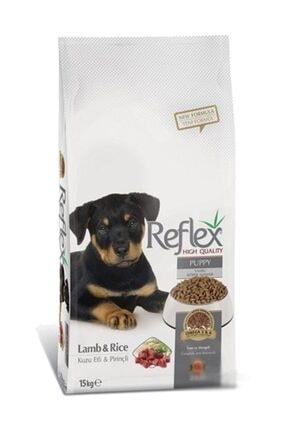 Reflex Puppy Lamb Kuzu Etli Pirinçli Yavru Köpek Maması 15 kg 0