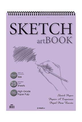 Etika Eskiz Defteri 150 gr 33x47 Cm 25 Yaprak Spiralli Sketchbook 0